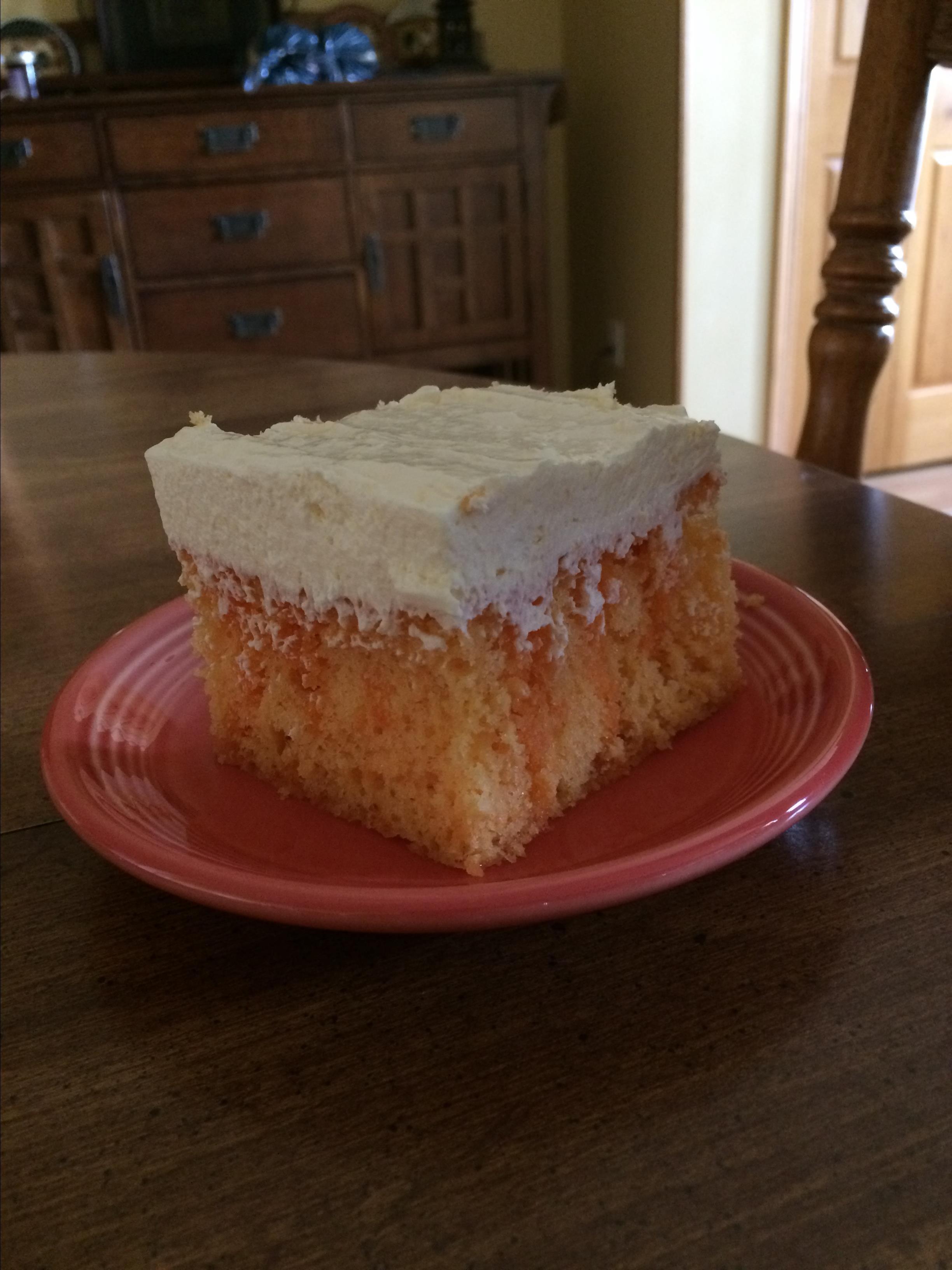 Orange Cream Cake I Farm Wife