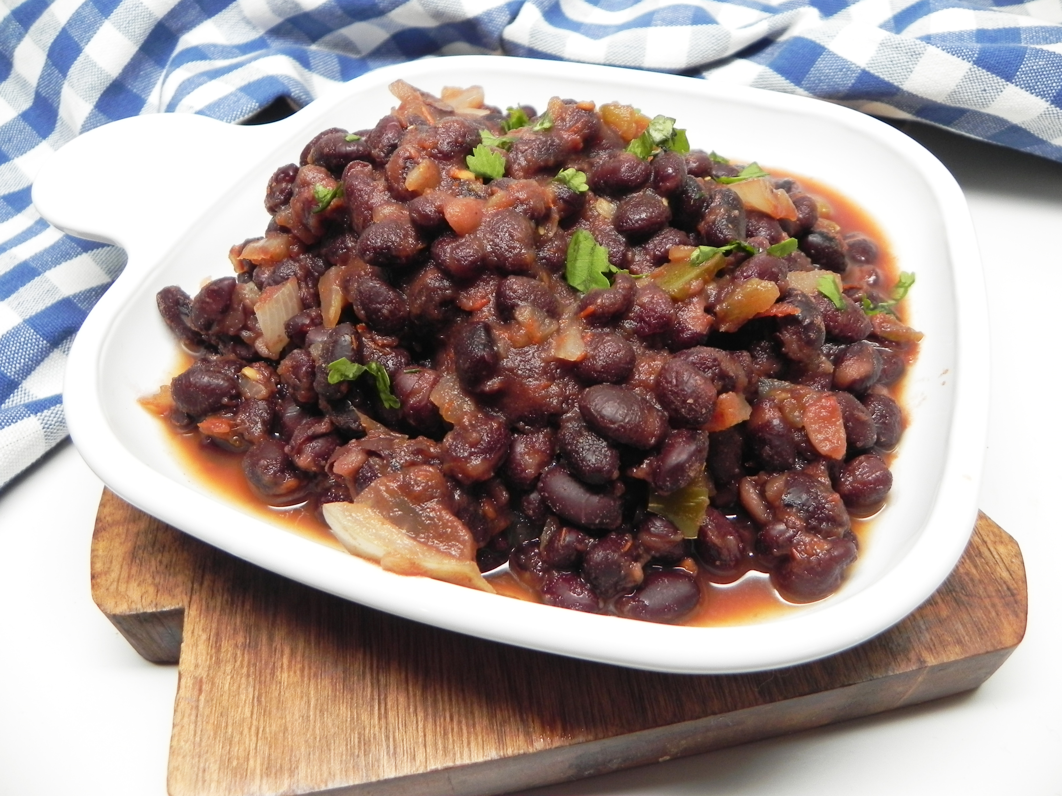 Vegan Spiced Black Beans for a Crowd