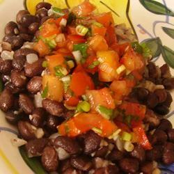 Black Beans with Pico de Gallo Christina