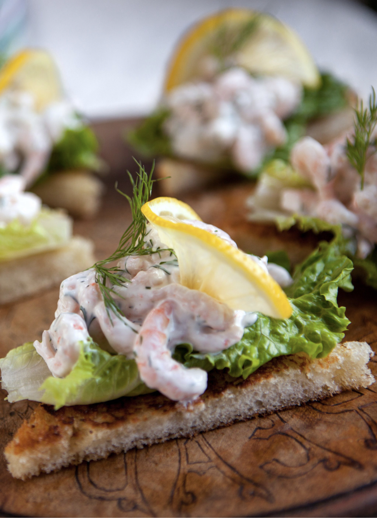 Swedish Shrimp Salad with Dill