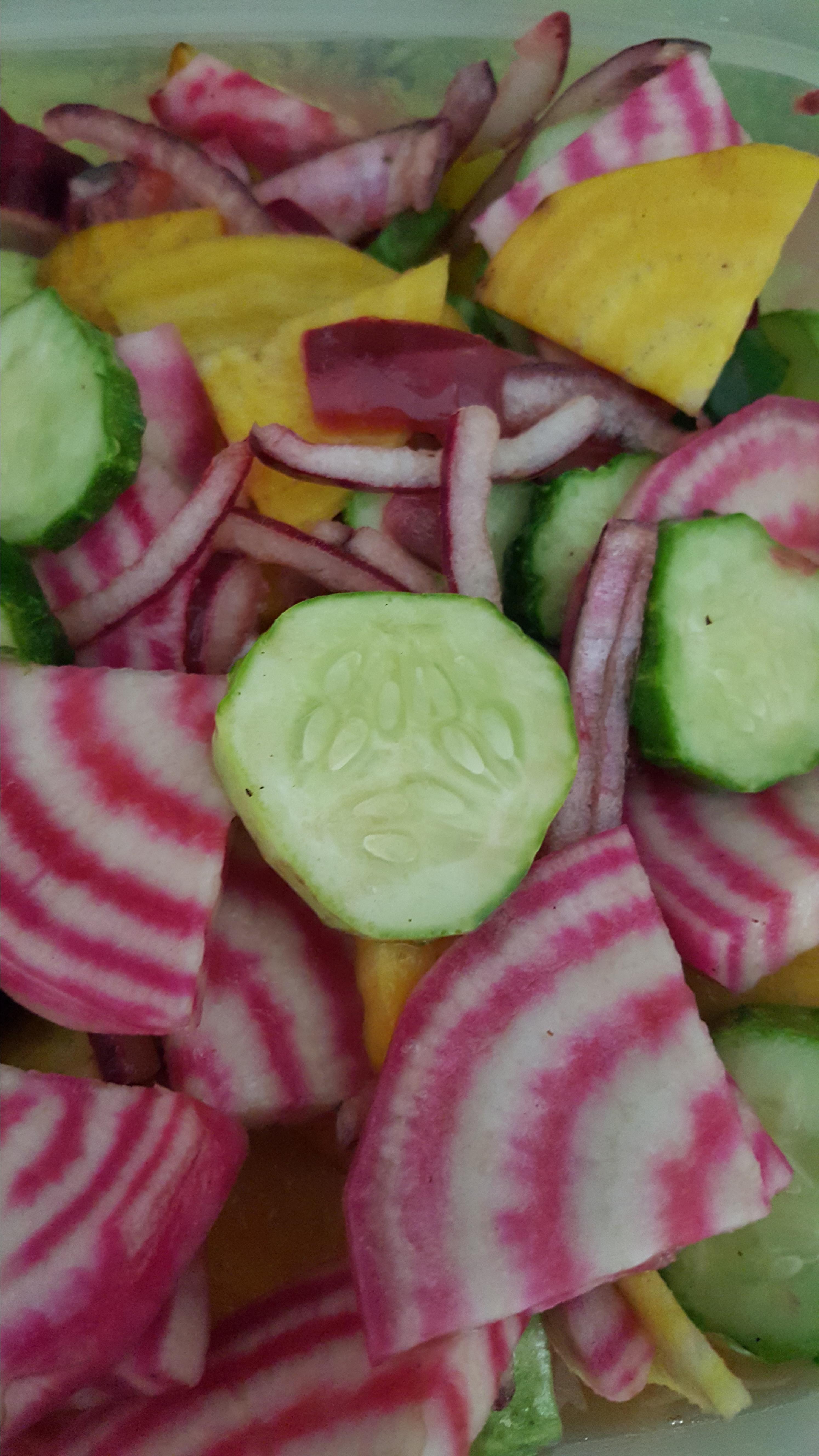Simple Cucumber and Radish Salad
