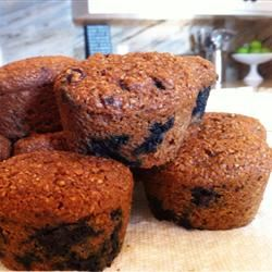 Low-Fat Blueberry Bran Muffins kschubert