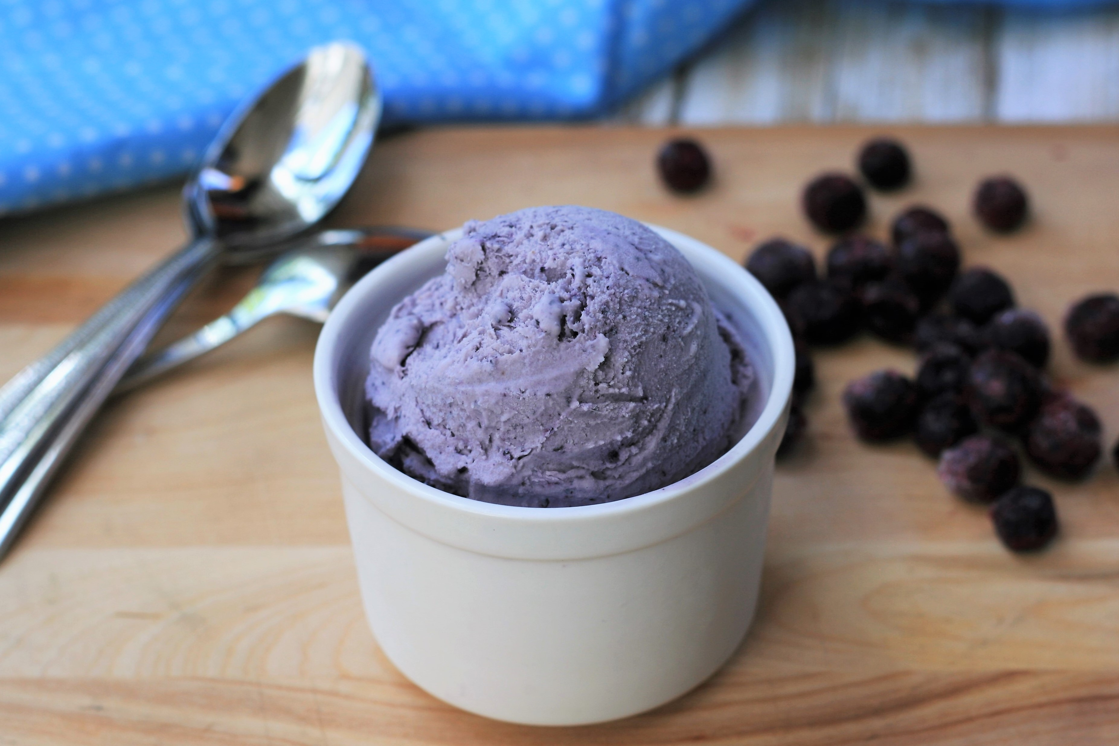 Frozen blueberries and maple extract make this no-churn ice cream unique in flavor (and calories!). It's a low-carb way to satisfy any sweet tooth.