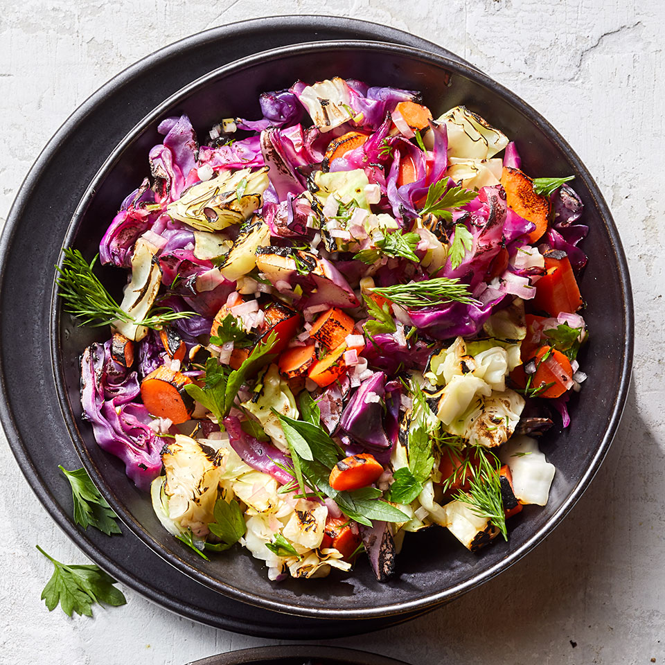 Grilled Coleslaw with Lemon-Herb Vinaigrette Breana Killeen