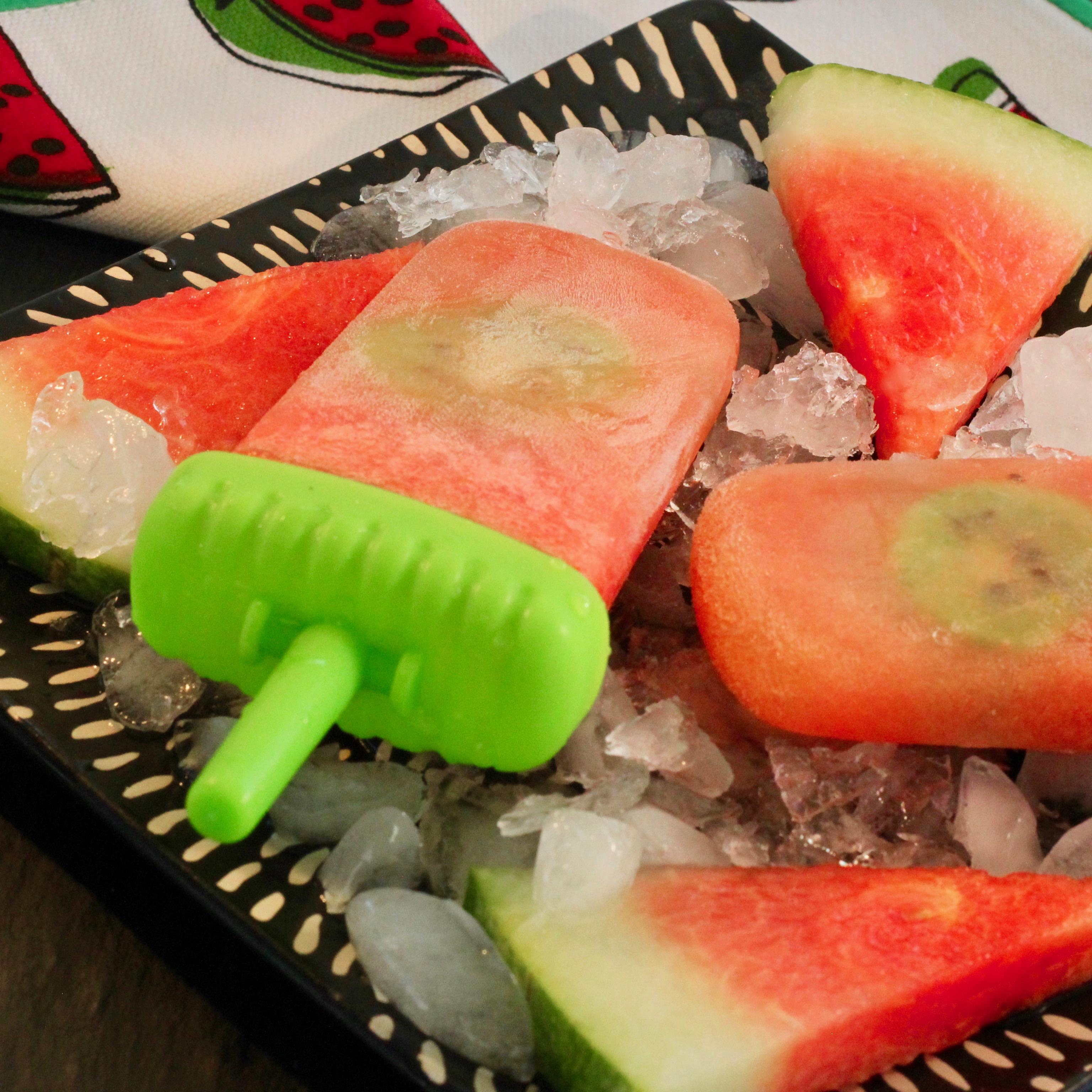 Boozy Watermelon-Kiwi Ice Pops