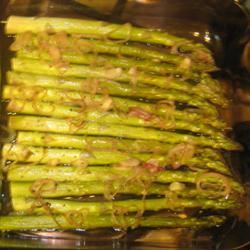 Roasted Asparagus with Shallots Marisol, SD