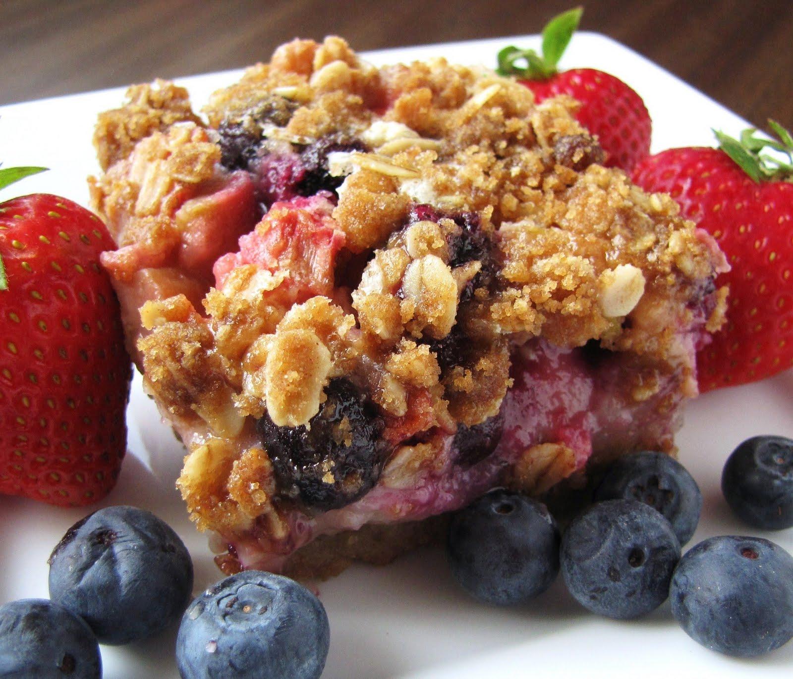 Very Berry Rhubarb Bars