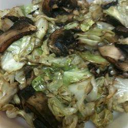 Cabbage with Portobello Mushrooms Anonymous
