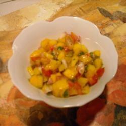 Easy Mango Salsa Perri Pender