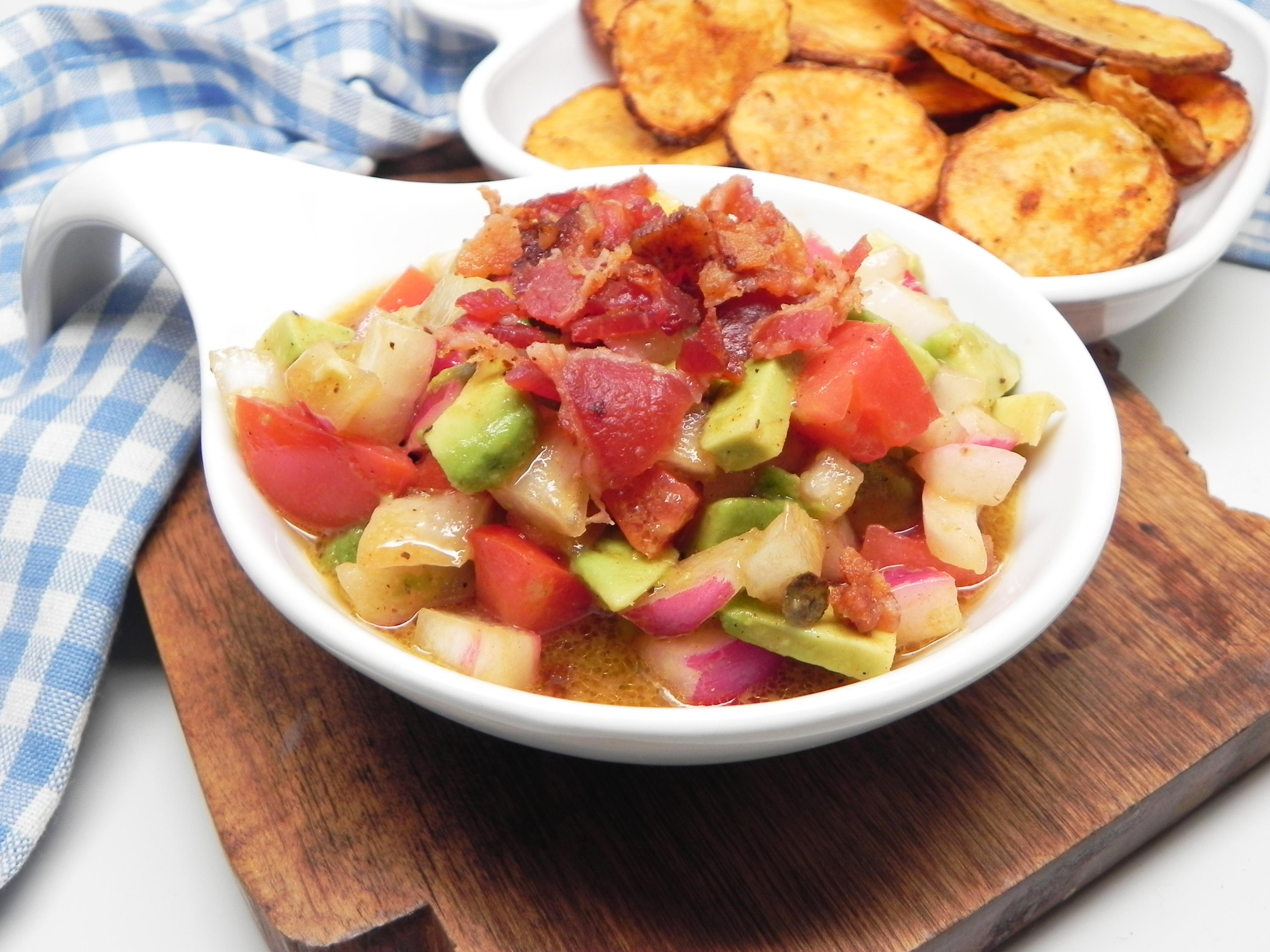 Bacon, Avocado, and Tomato Salad