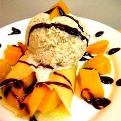 Mango Crepes a la Mode