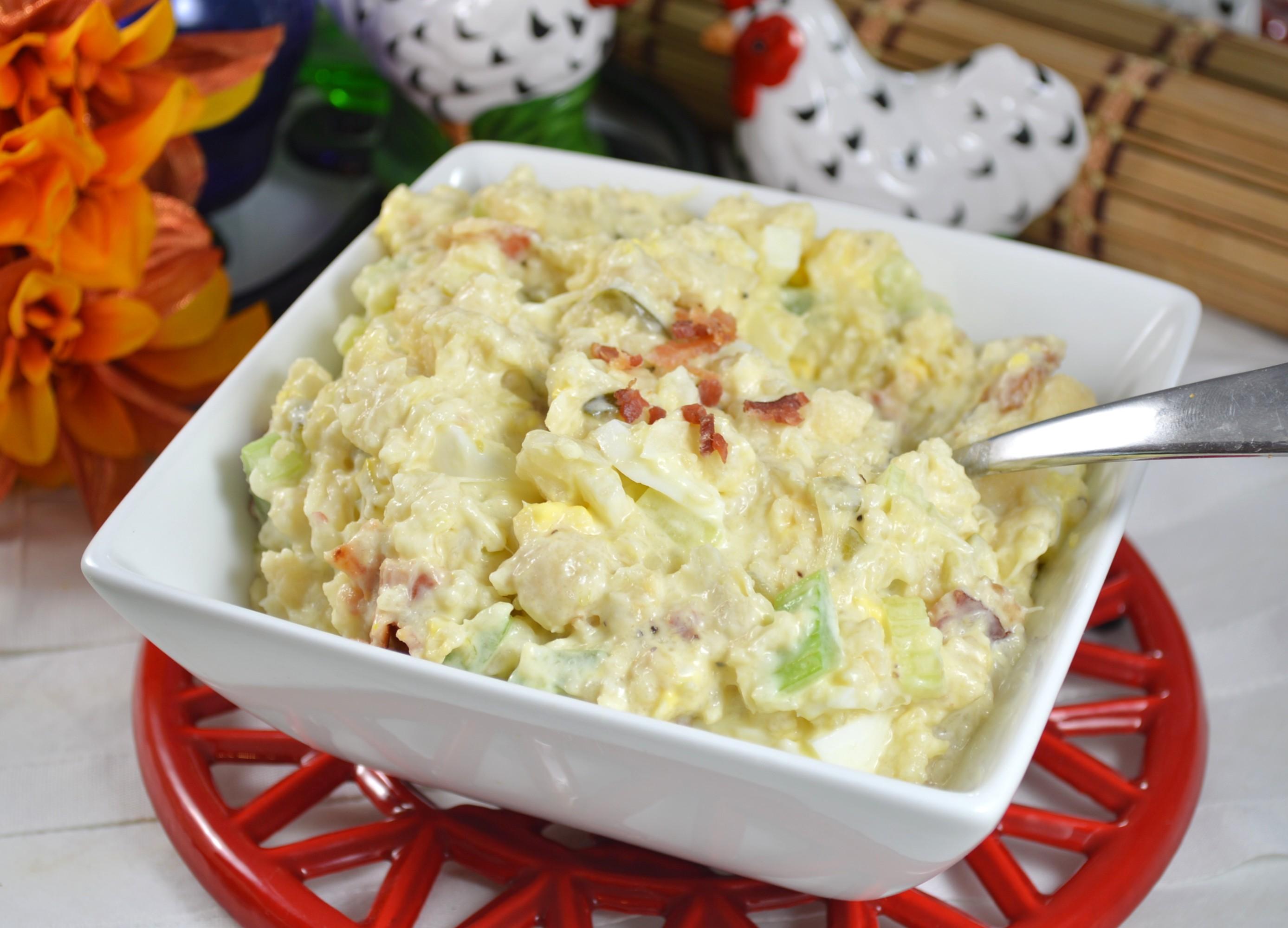 Low-Carb Cauliflower Mock Potato Salad Bibi