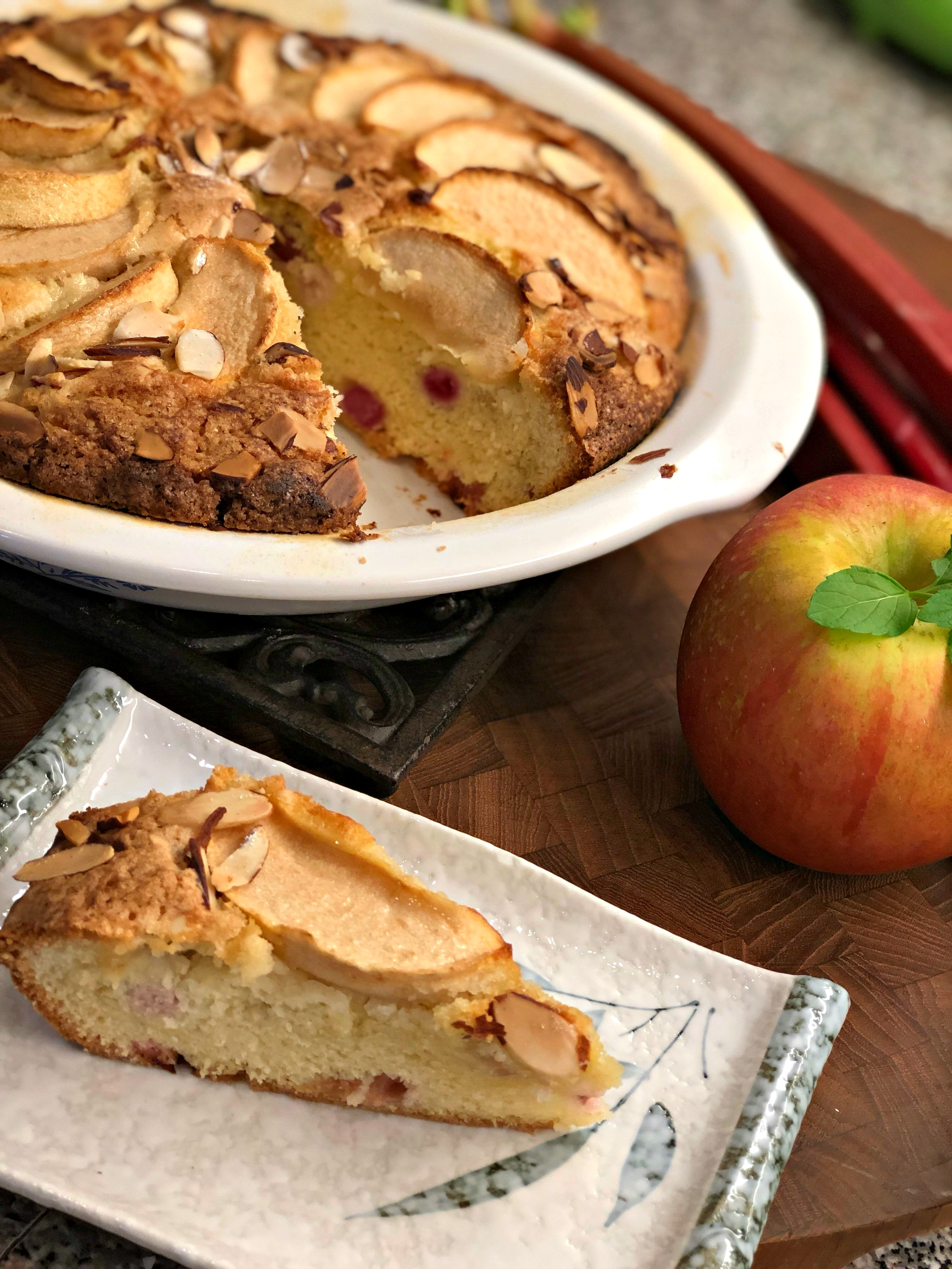 French Style Apple Rhubarb Cake Recipe Allrecipes