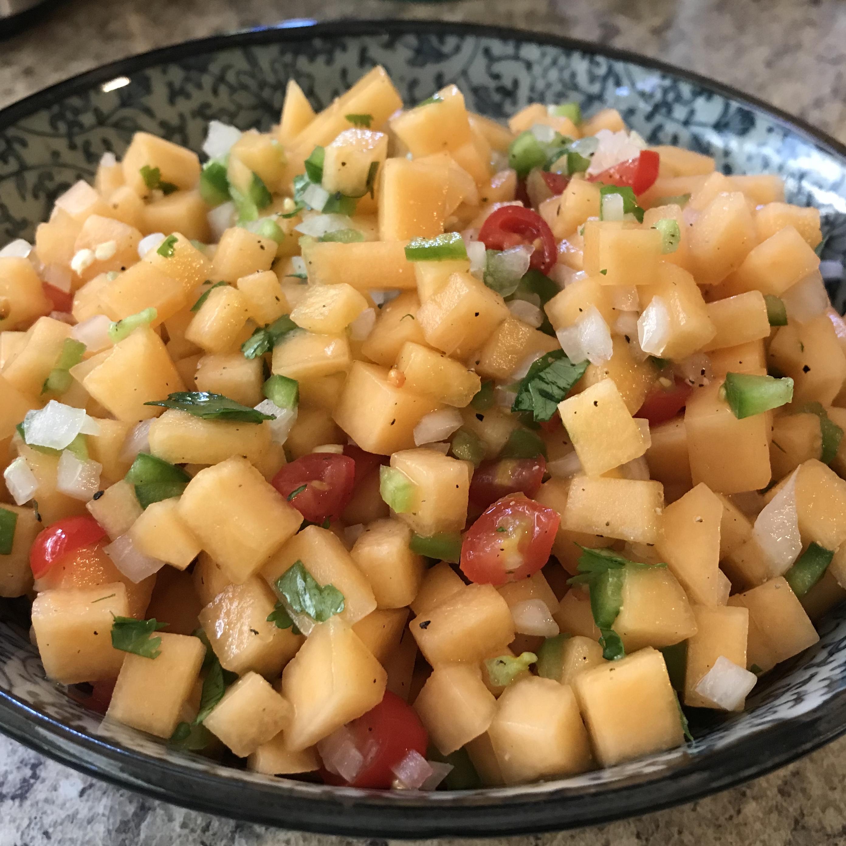 Easy Cantaloupe Salsa CJ