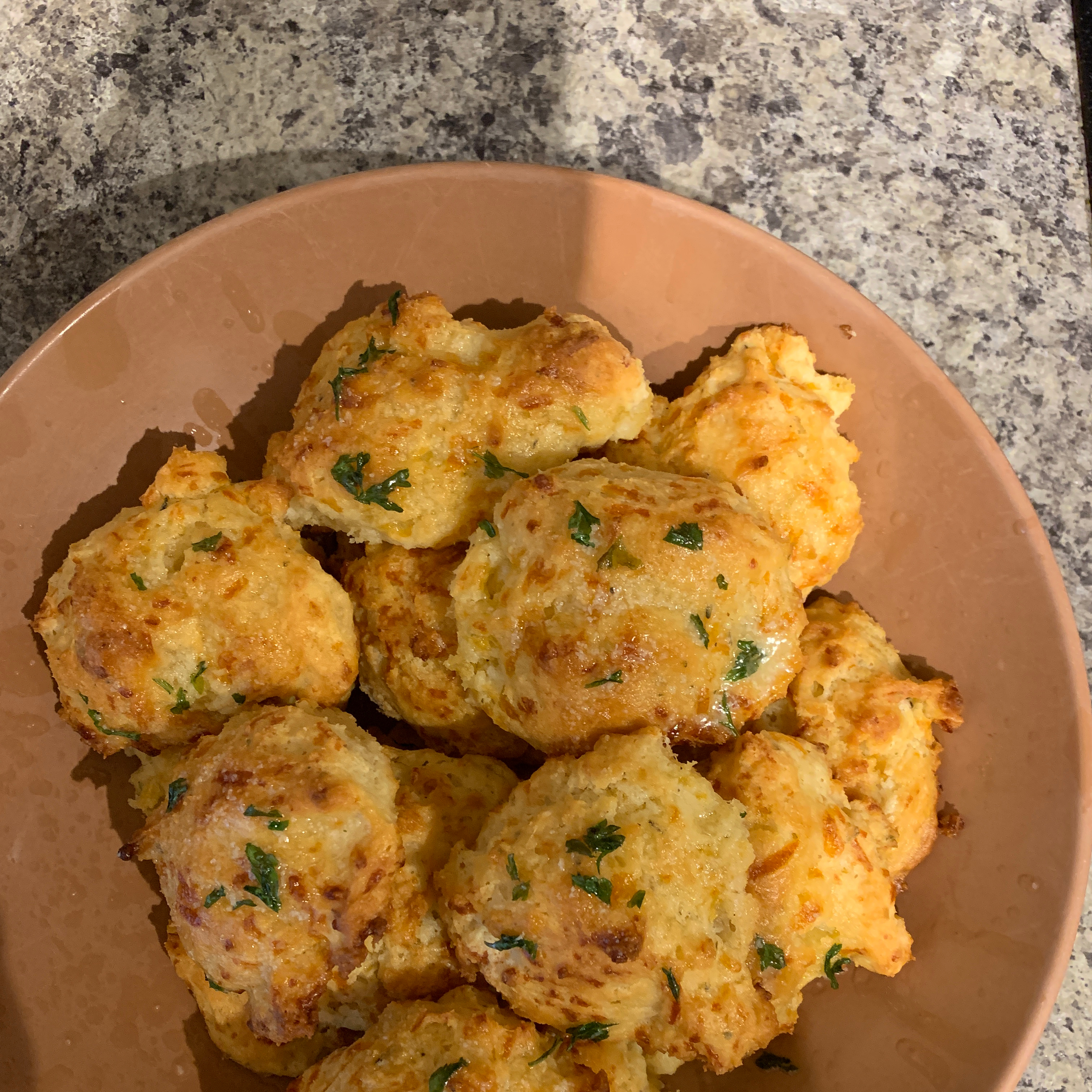 Garlic-Herb Butter Drop Biscuits dcamilli