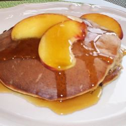 Cinnamon-Peach Cottage Cheese Pancakes Deb C