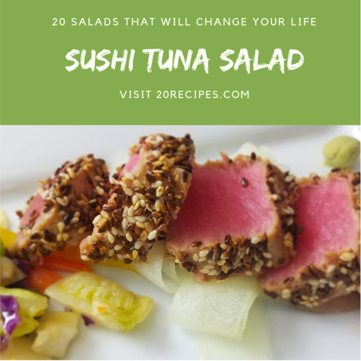 Seared Ahi Tuna Sushi Salad