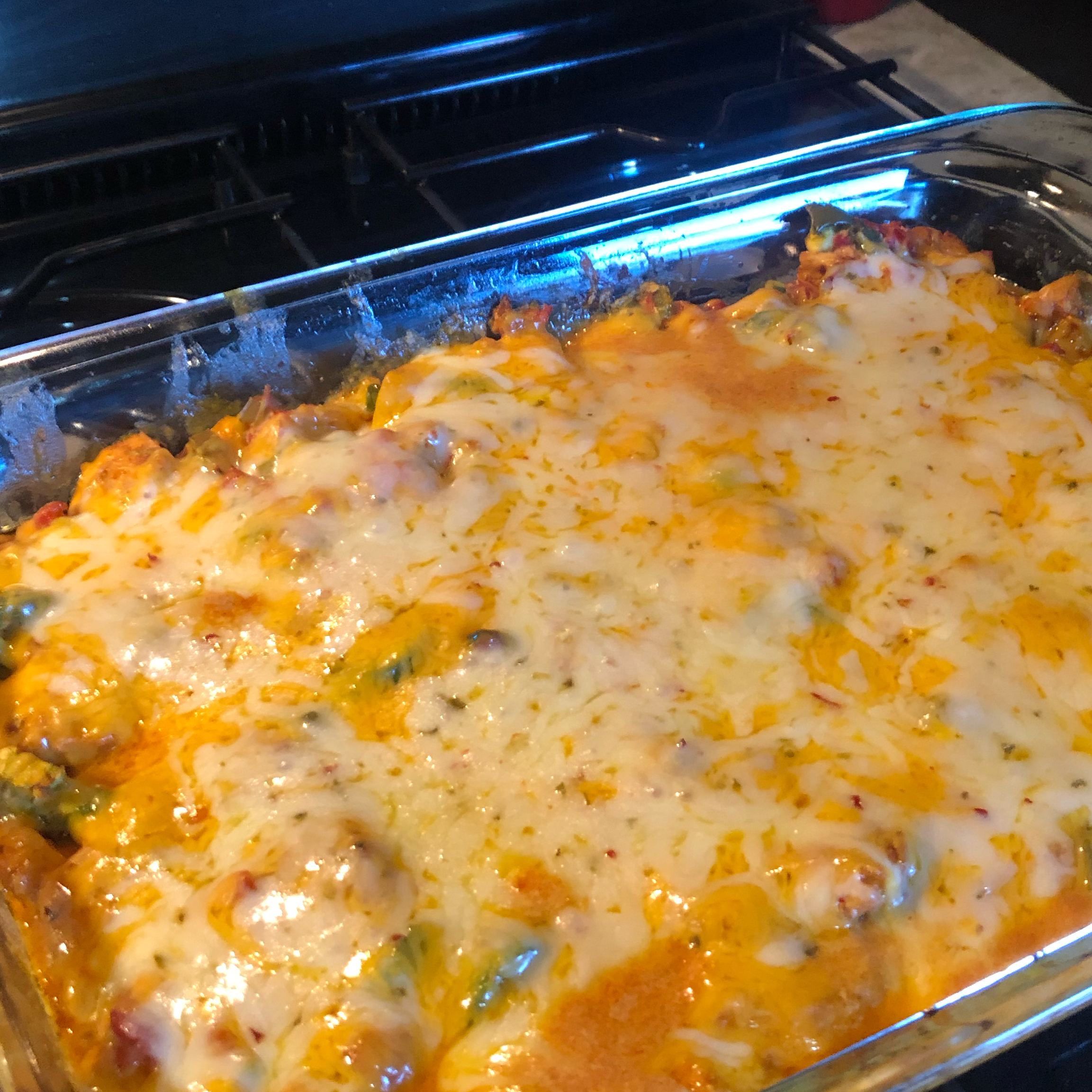 Spicy Keto Chicken-and-Cheese Casserole
