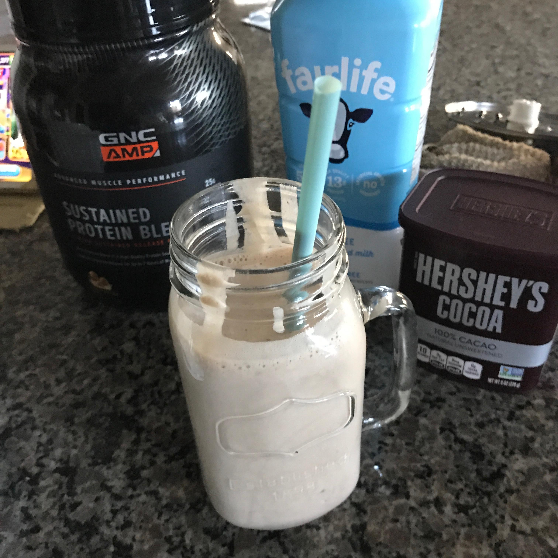 Chocolate Banana Peanut Butter Protein Shake Amella21