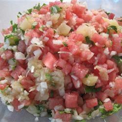 Watermelon Pineapple Salsa Annette Shadiack