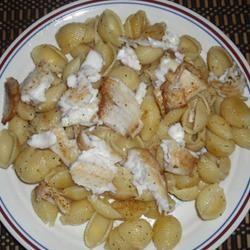 Pan Seared Lemon Tilapia with Parmesan Pasta
