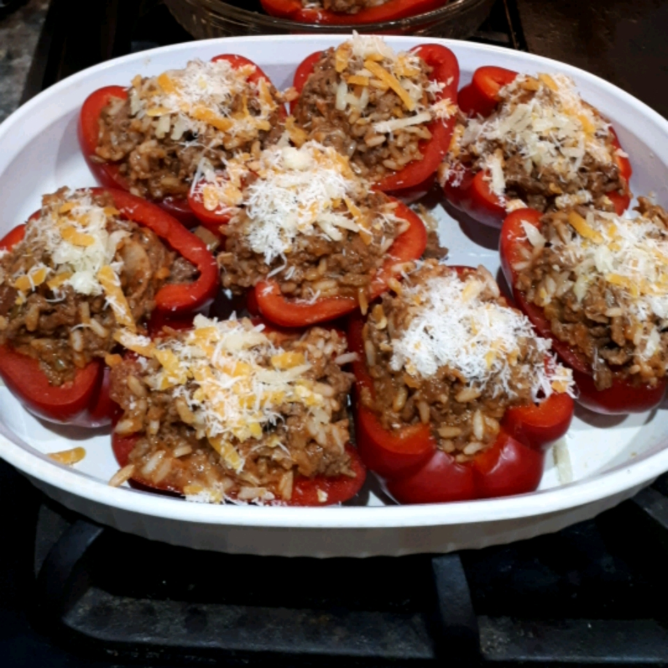 Bolognese Stuffed Bell Peppers Louise Manning