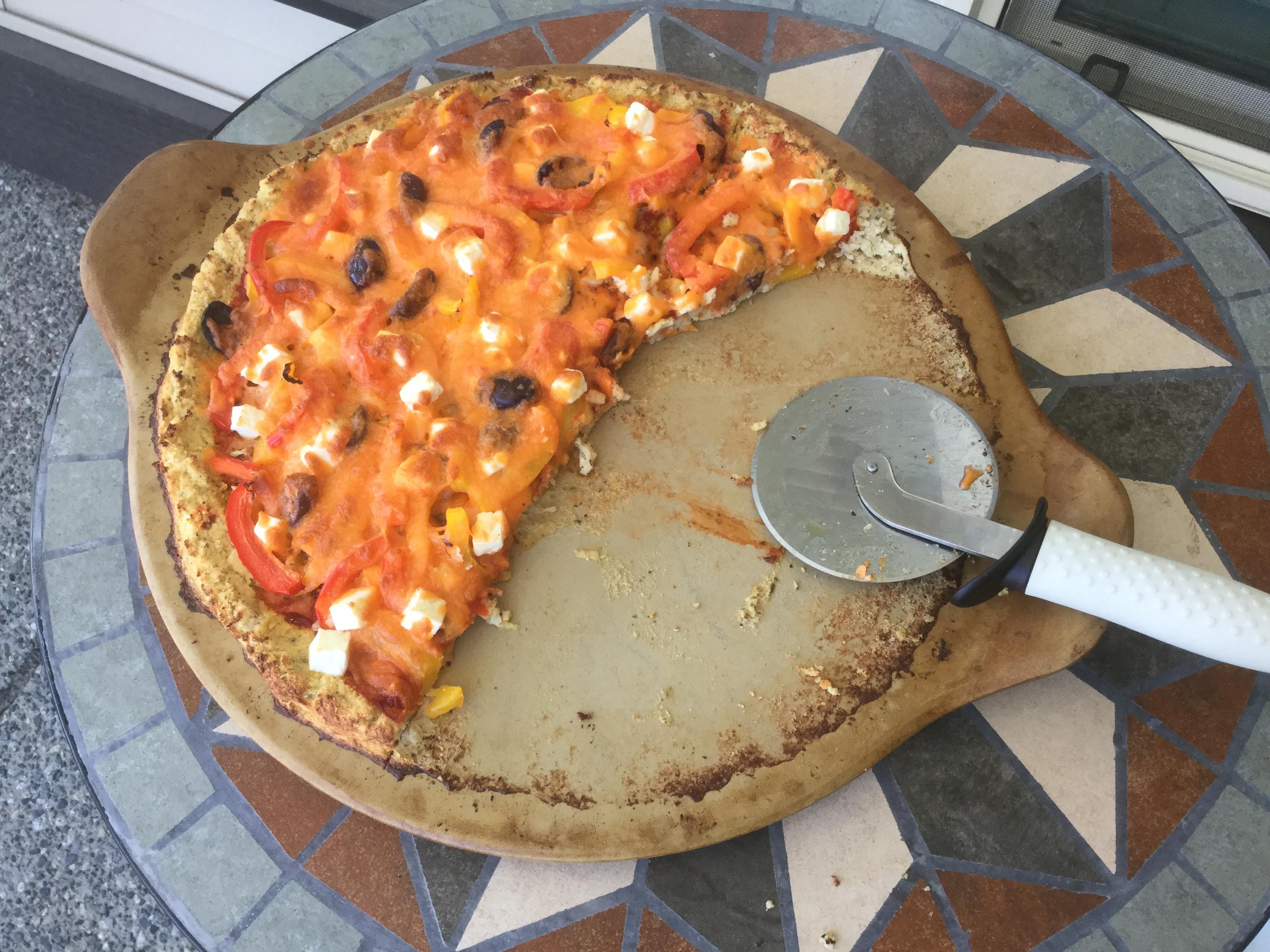 Cauliflower Almond Pizza Crust Christine