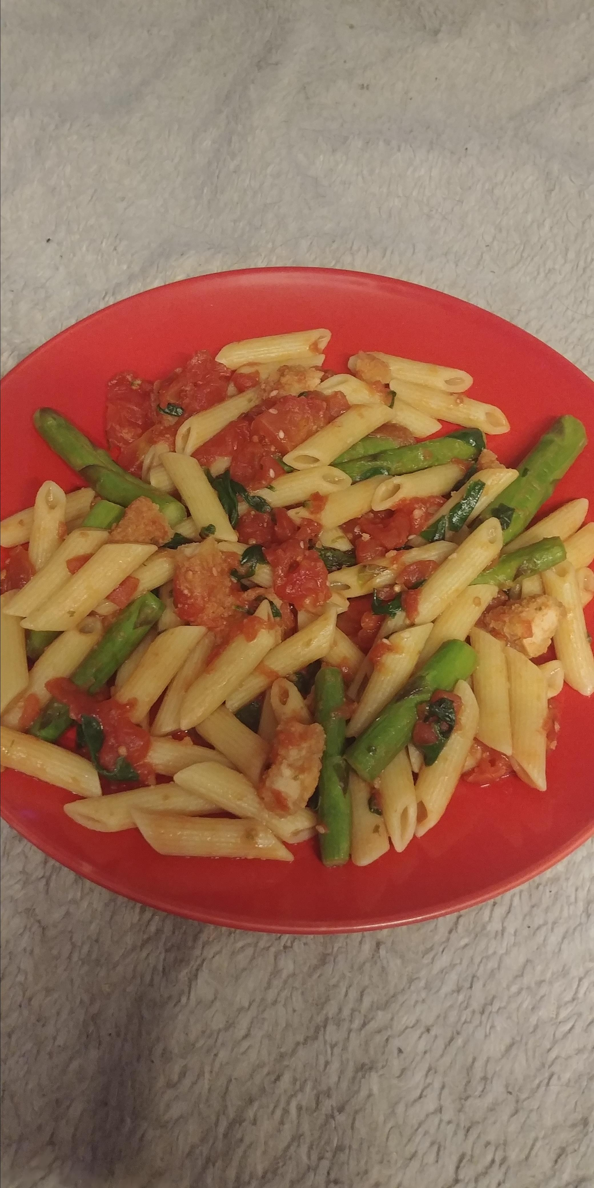Penne with Chicken and Asparagus Shogun