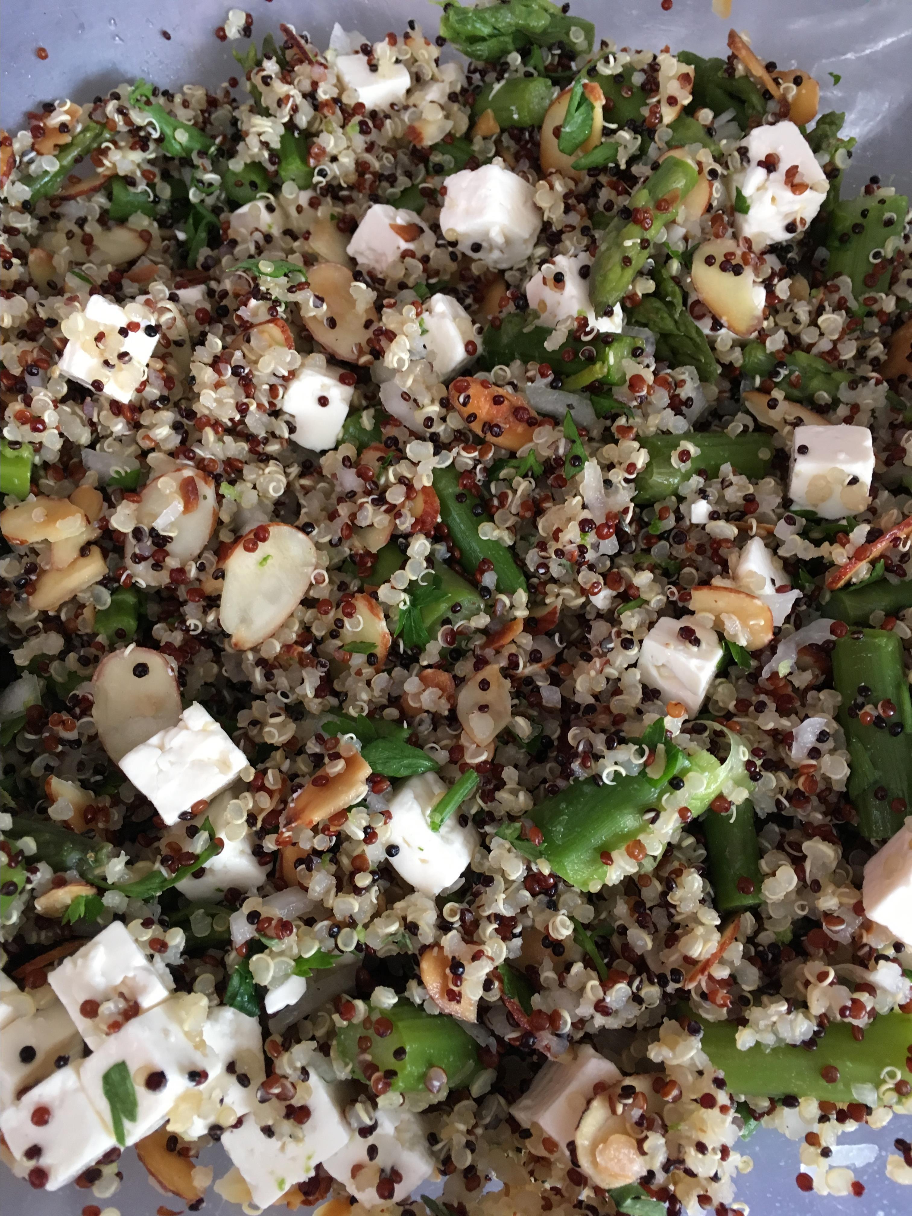 Quinoa, Asparagus, and Feta Salad
