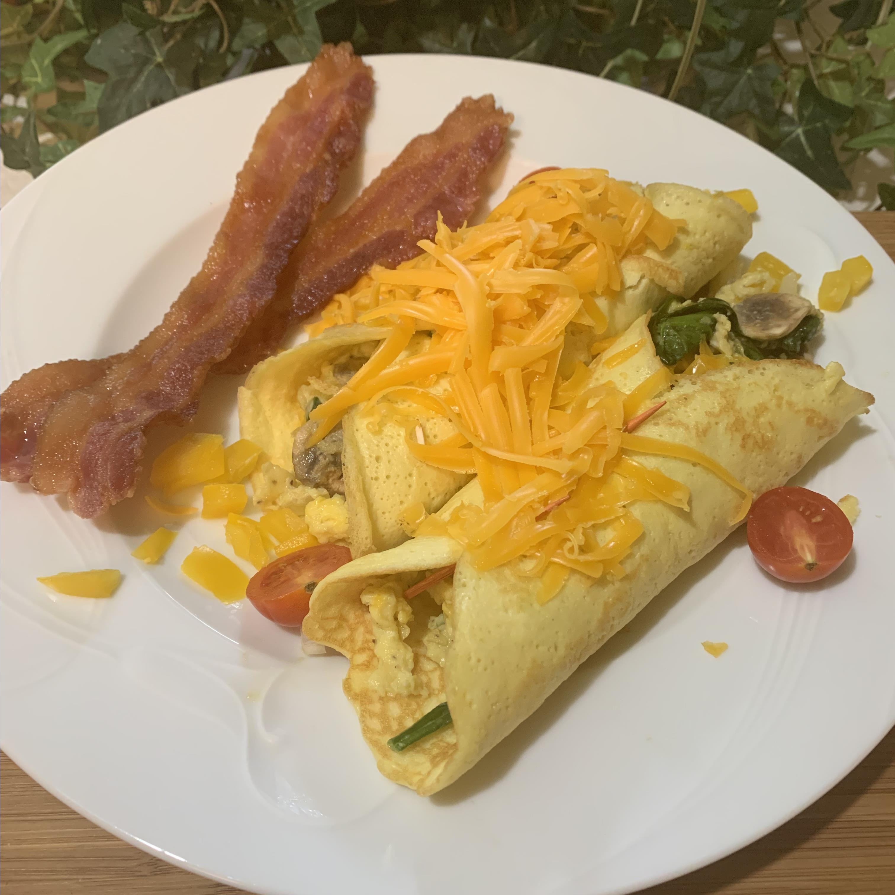 Low-Carb Savory Breakfast Crepes
