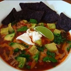 Vegetarian Tortilla Soup wakeupwriting
