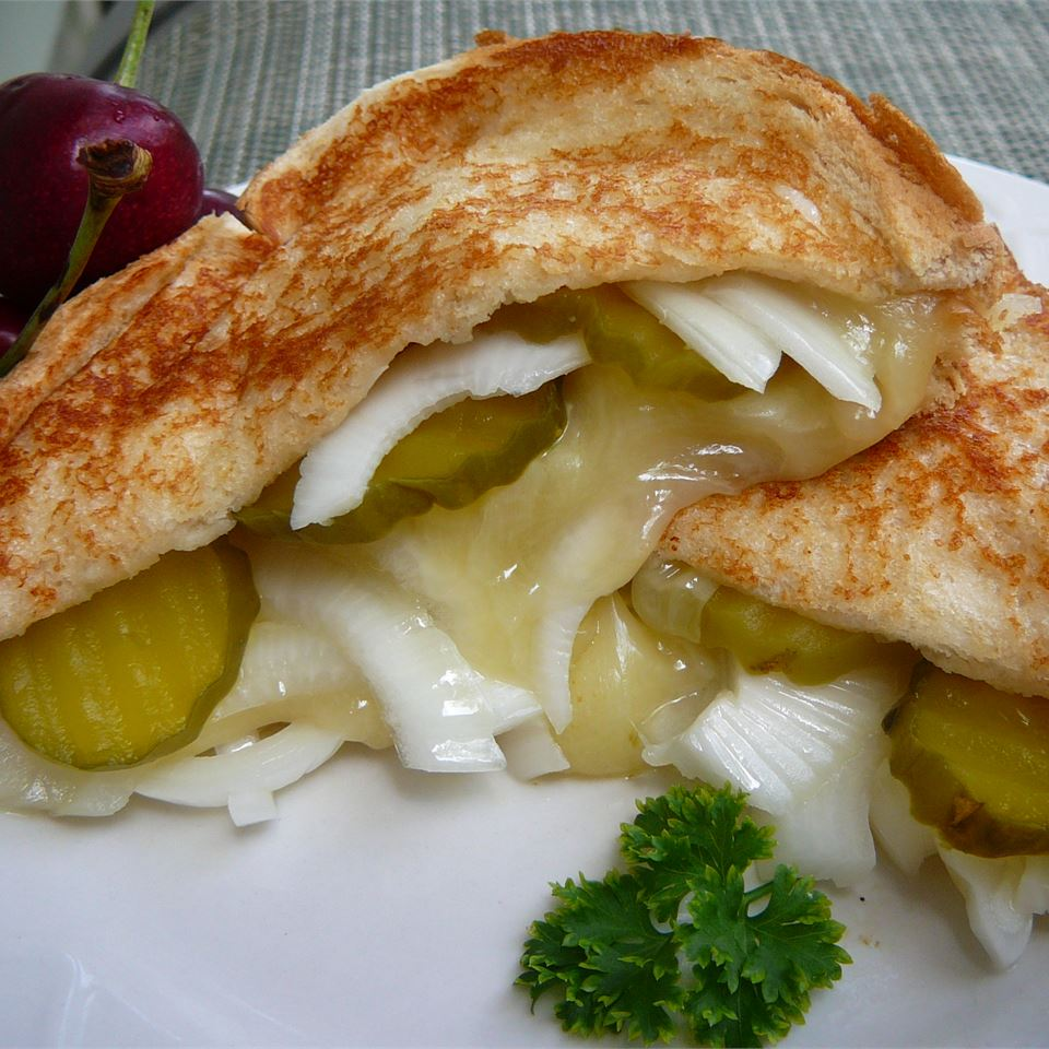 Grilled Cheese, Pickle and Vidalia Onion Sandwich Molly