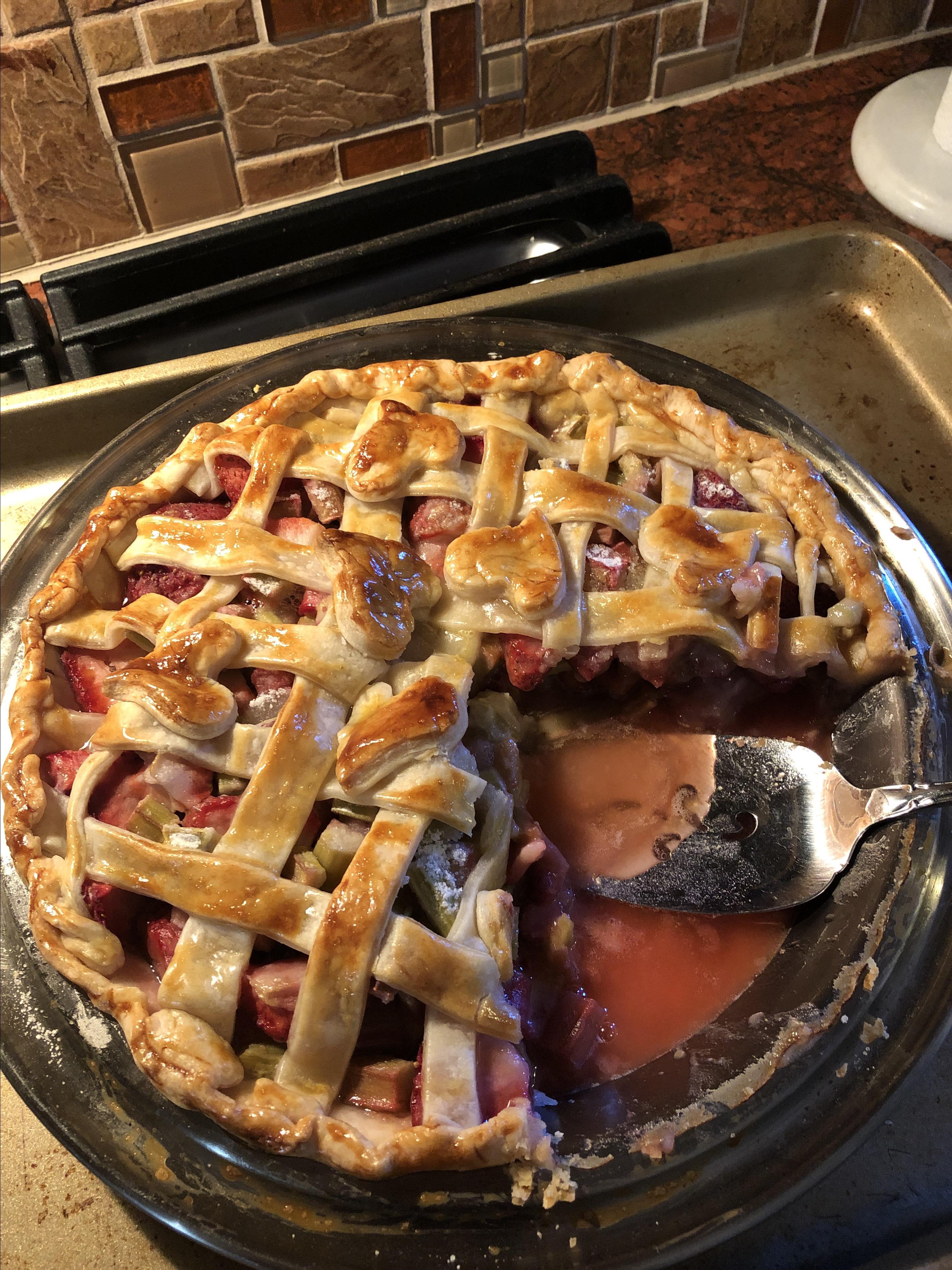 Rhubarb and Strawberry Pie Tracy Garant Stout