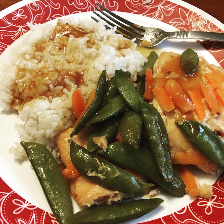 Tiffany's Asian-Infused Salmon Packets Cski