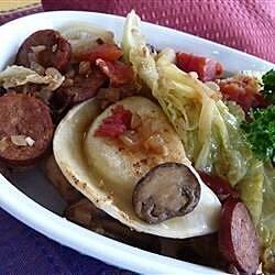cabbage polish sausage and pierogies recipe