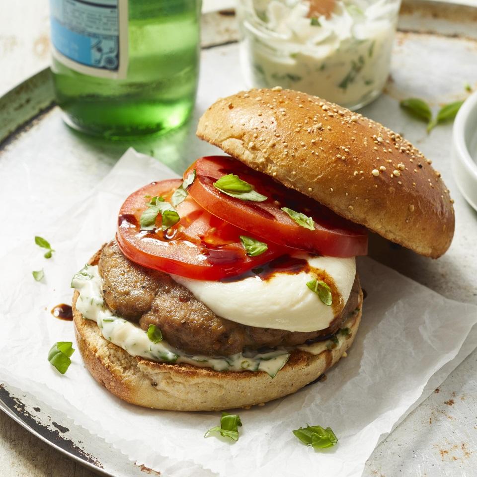 Caprese Turkey Burgers Trusted Brands