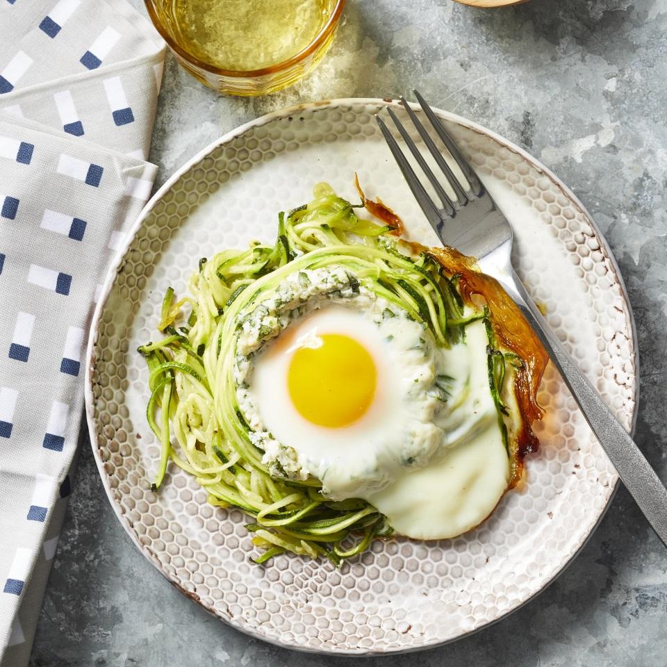 Spiralized Zucchini Nest Eggs Trusted Brands