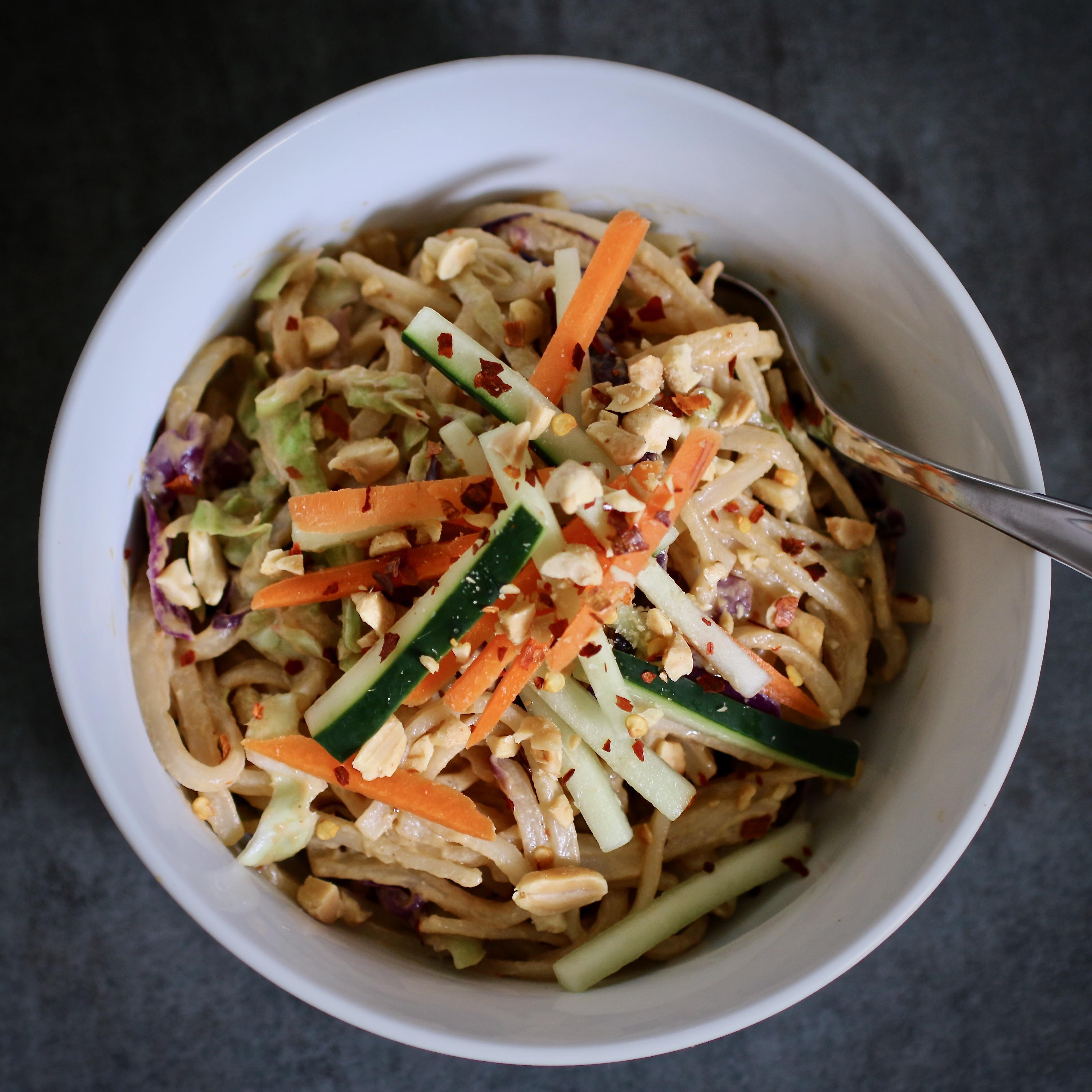 Gluten-Free Spicy Sesame-Peanut Noodles