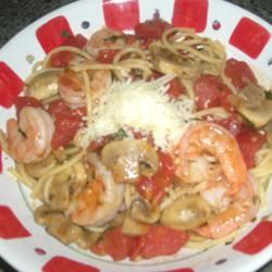 Angel Hair Pasta with Shrimp and Basil