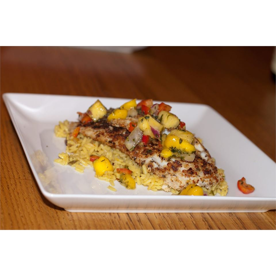 Caribbean Fish With Mango Salsa