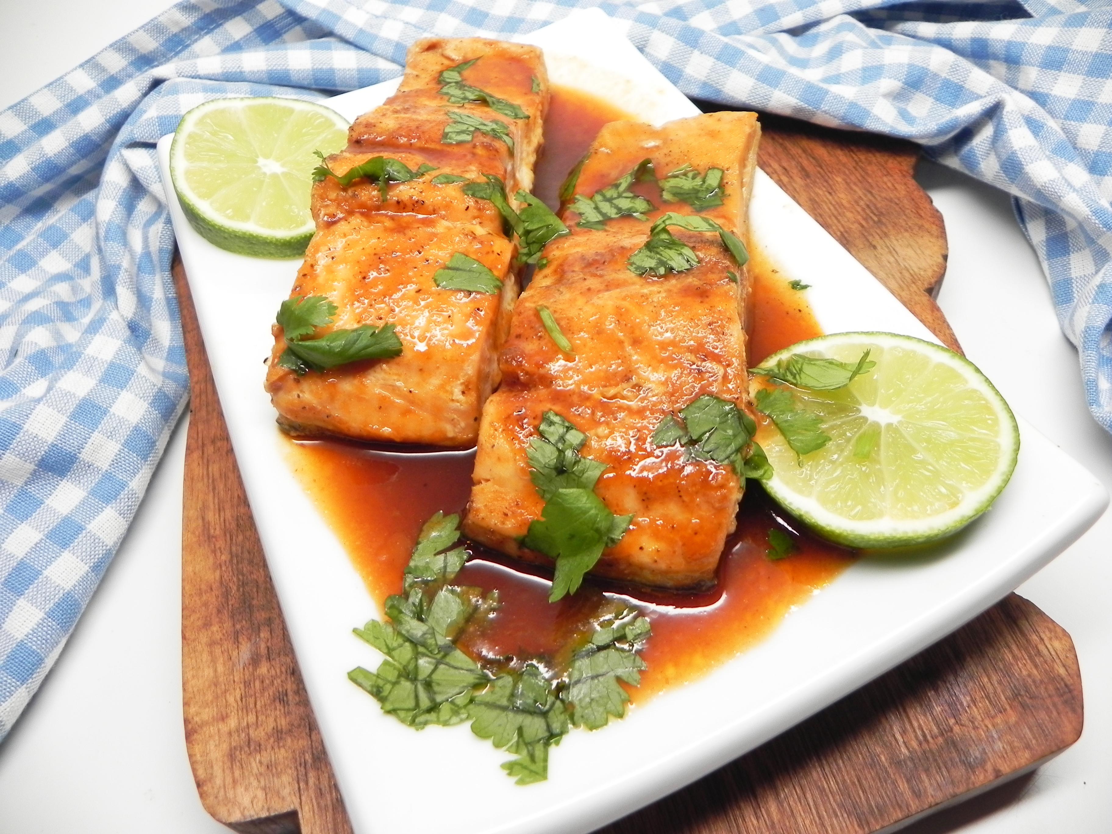 Baked Honey Sriracha Salmon Soup Loving Nicole