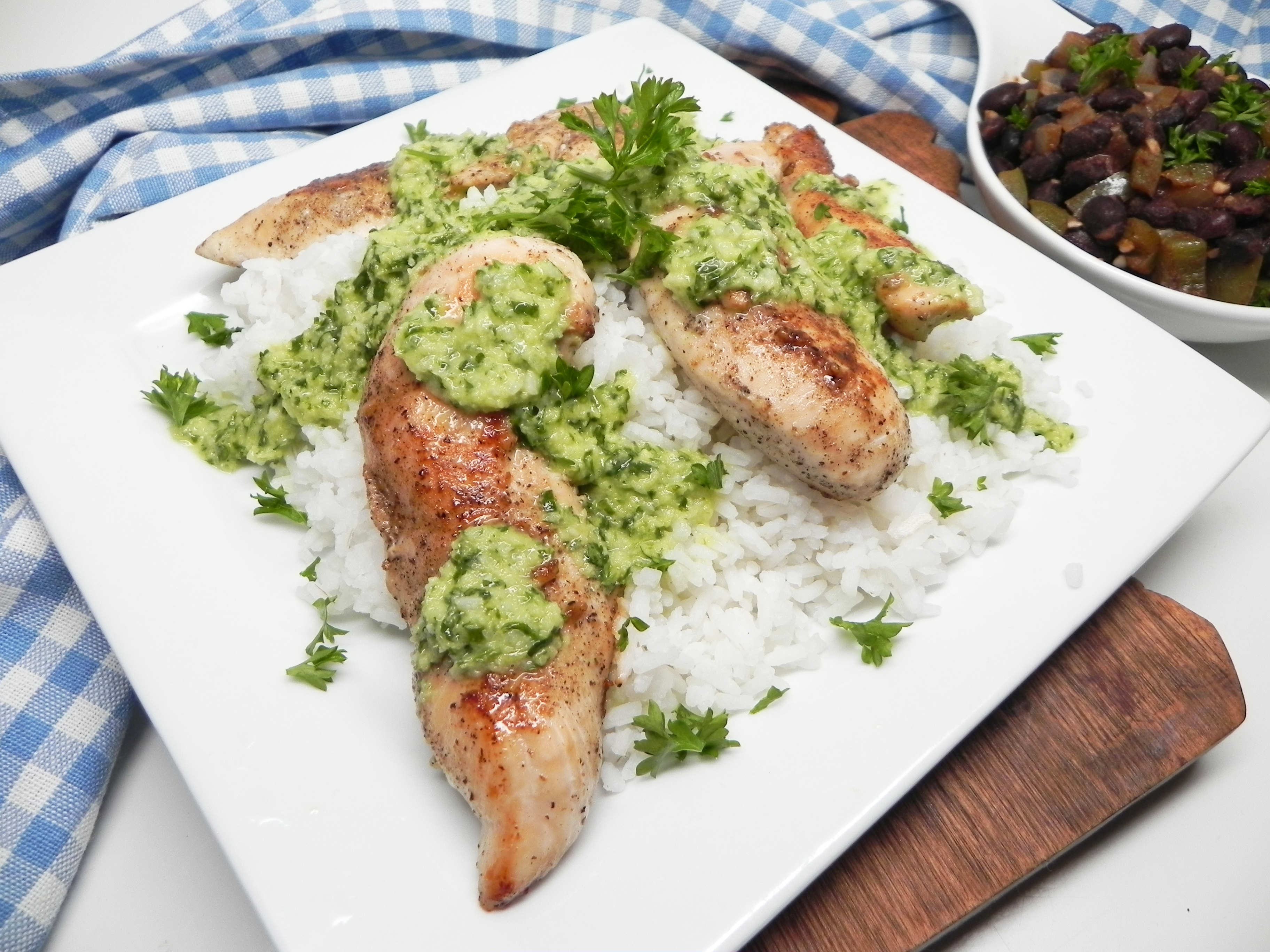 Pan-Seared Chimichurri Chicken burgefam