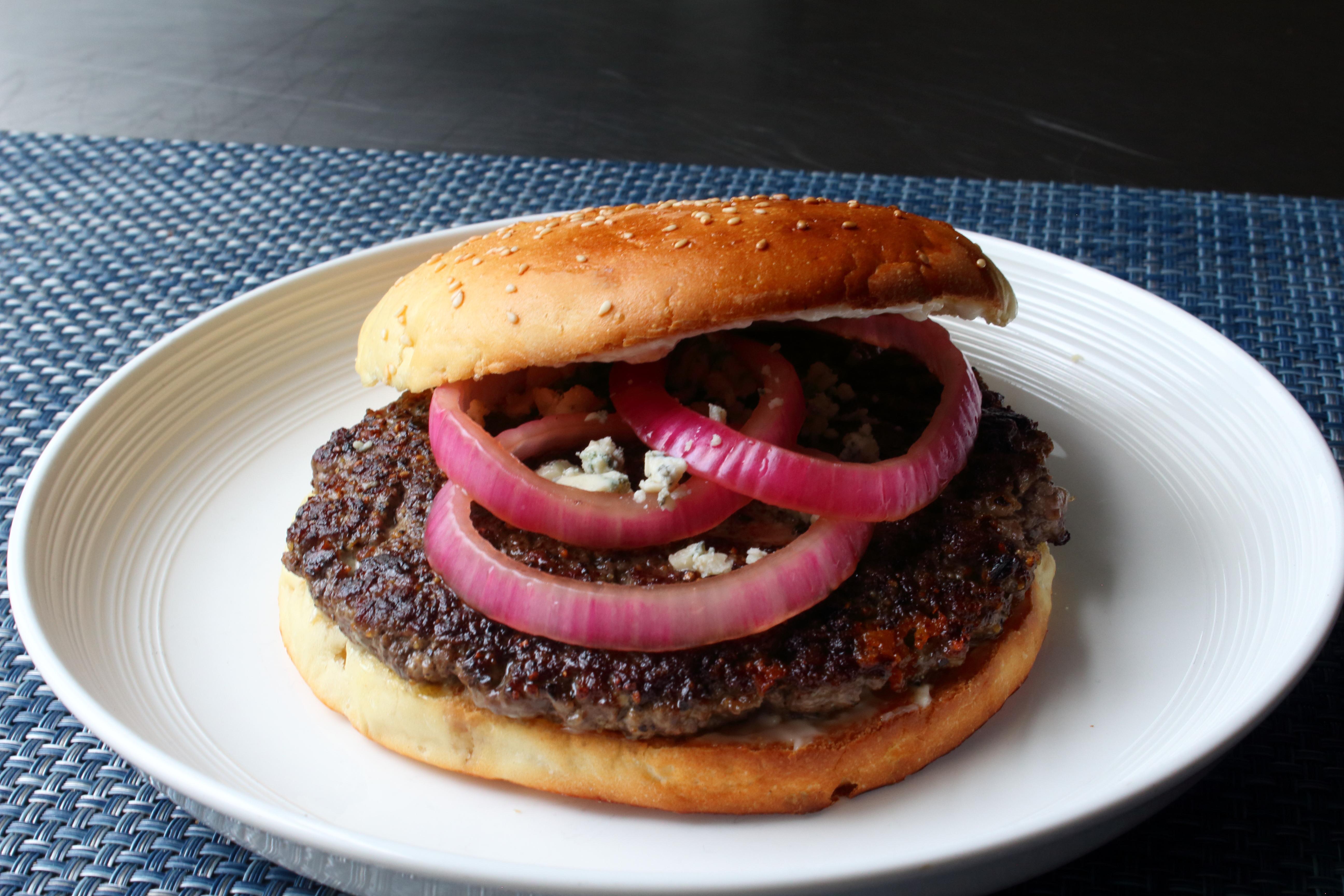 Black and Blue Steak Burger