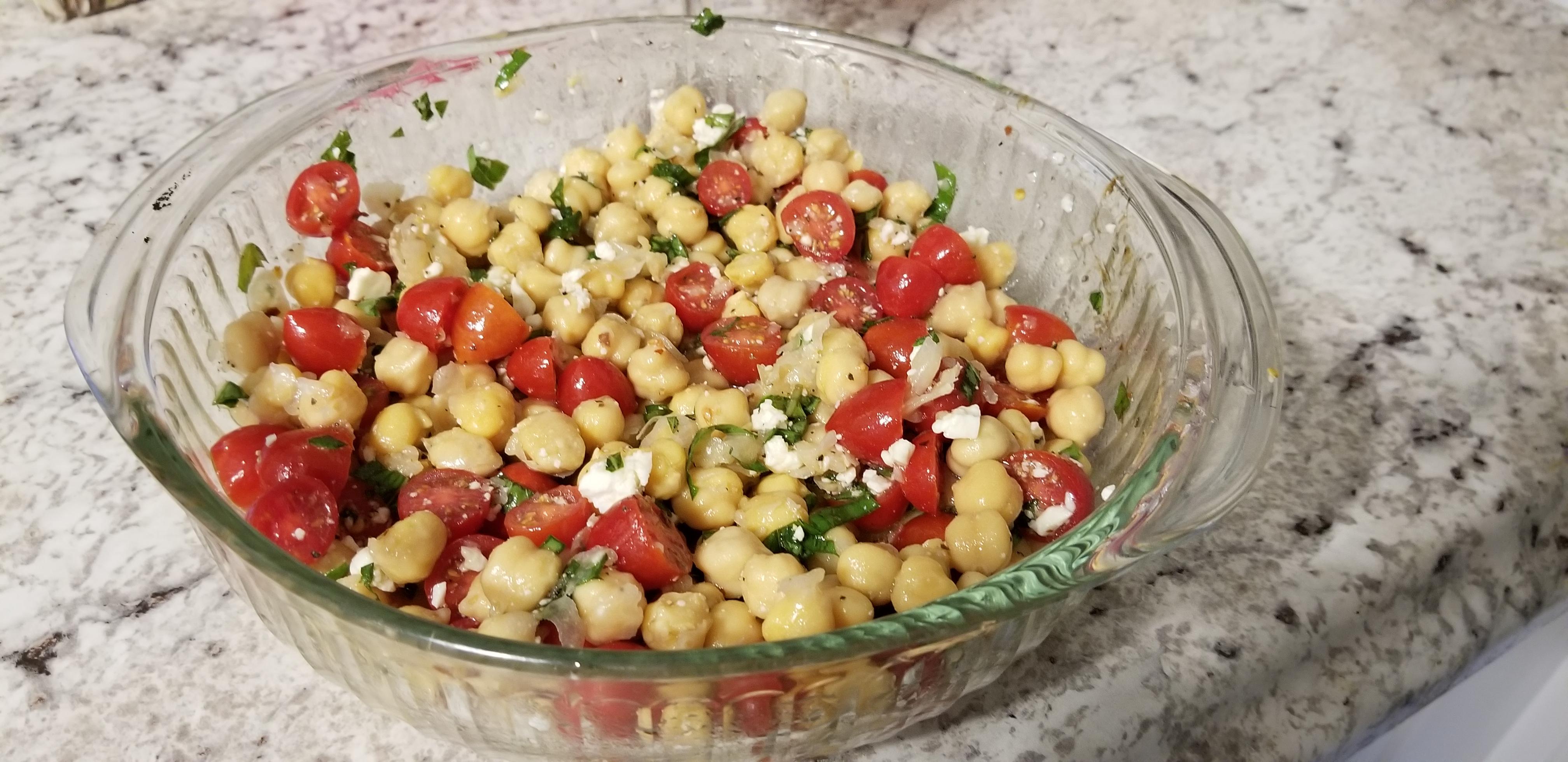 Herbed Chickpea Salad Lori McKirahan Burton