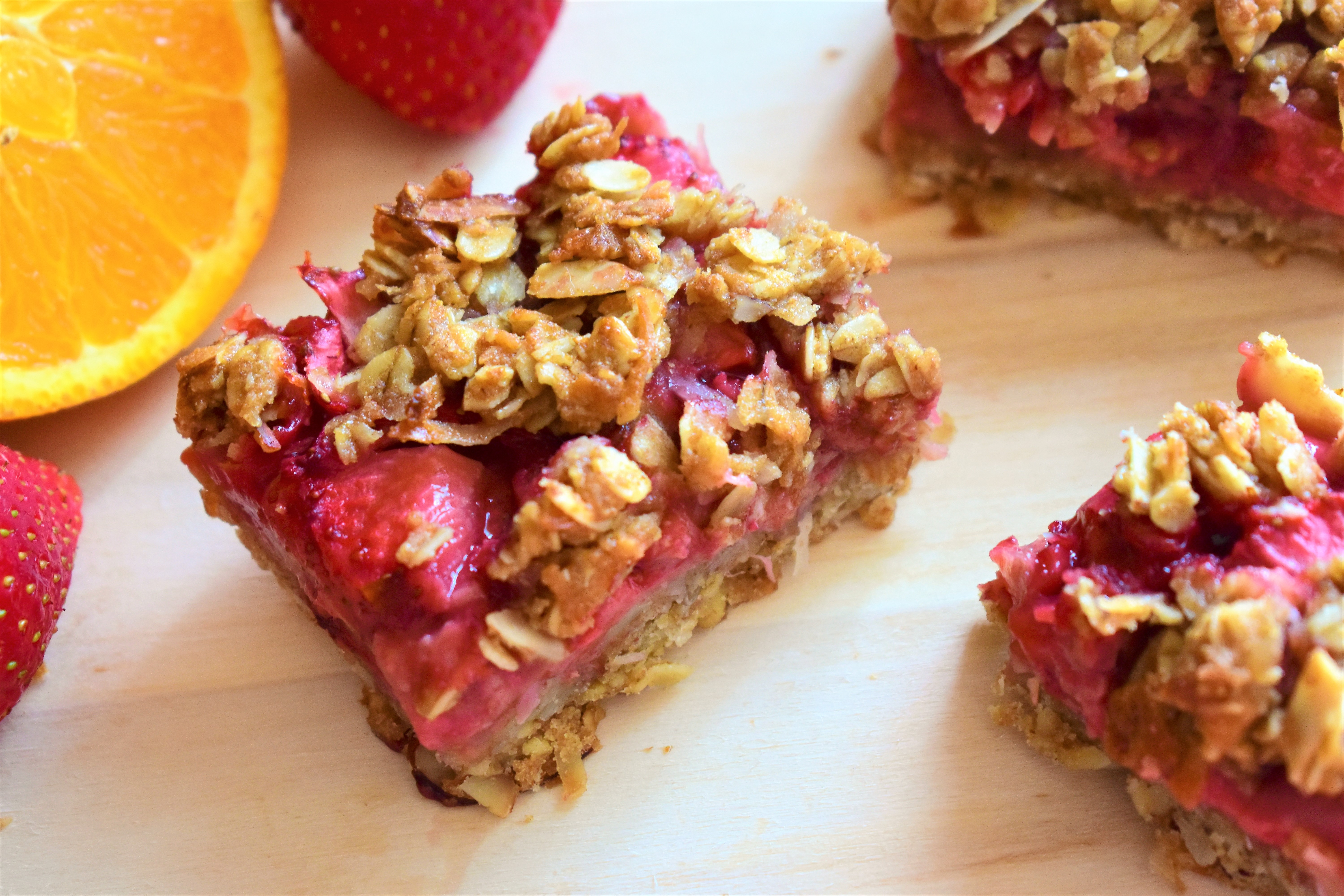 Strawberry-Orange Oatmeal Bars
