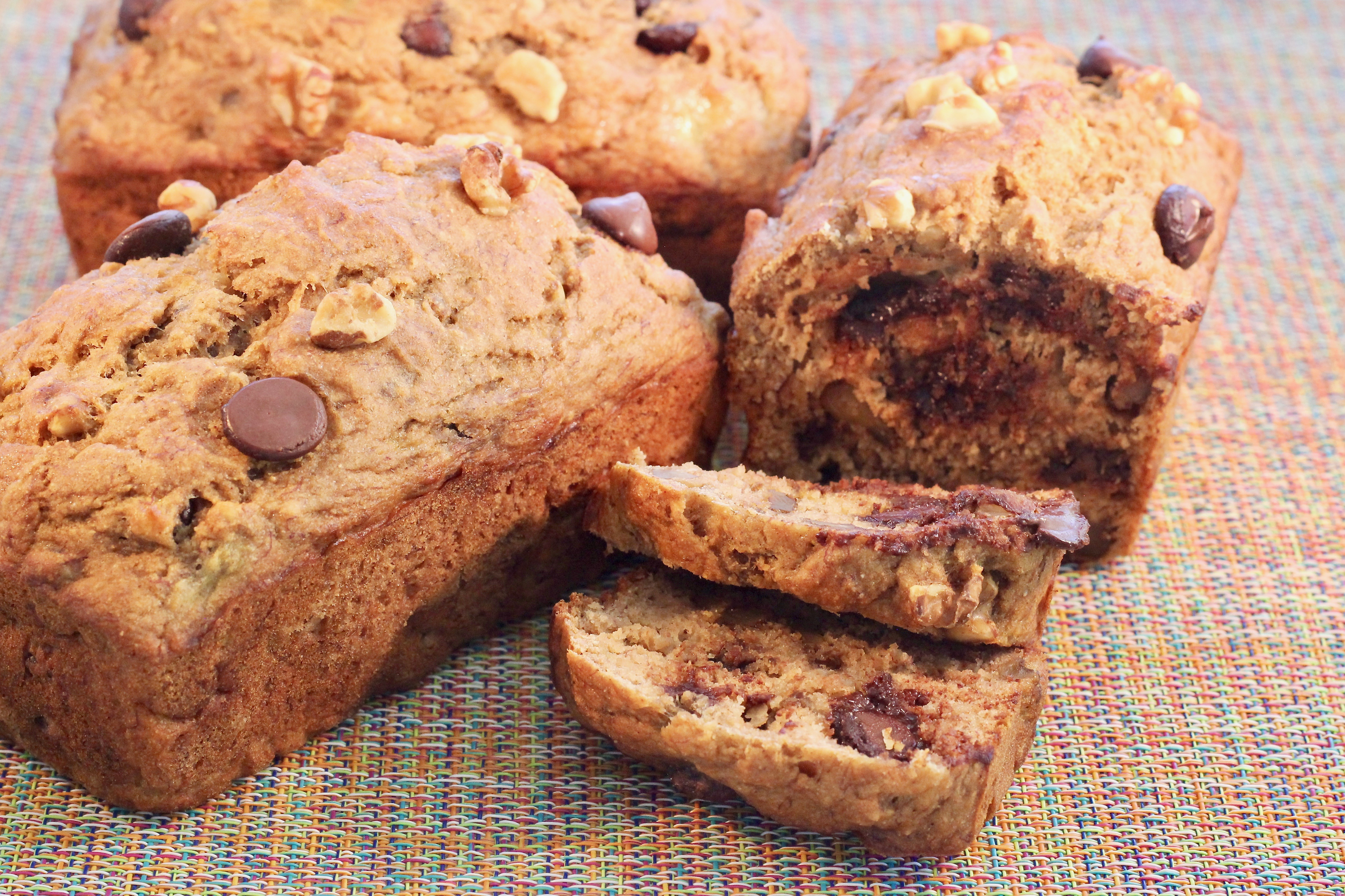 Emily's Banana-Nut Mini Loaves with Chocolate Chips