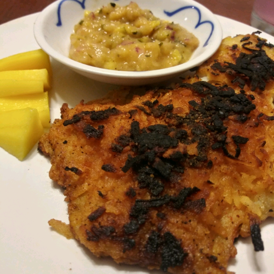 Coconut Tilapia with Apricot Dipping Sauce