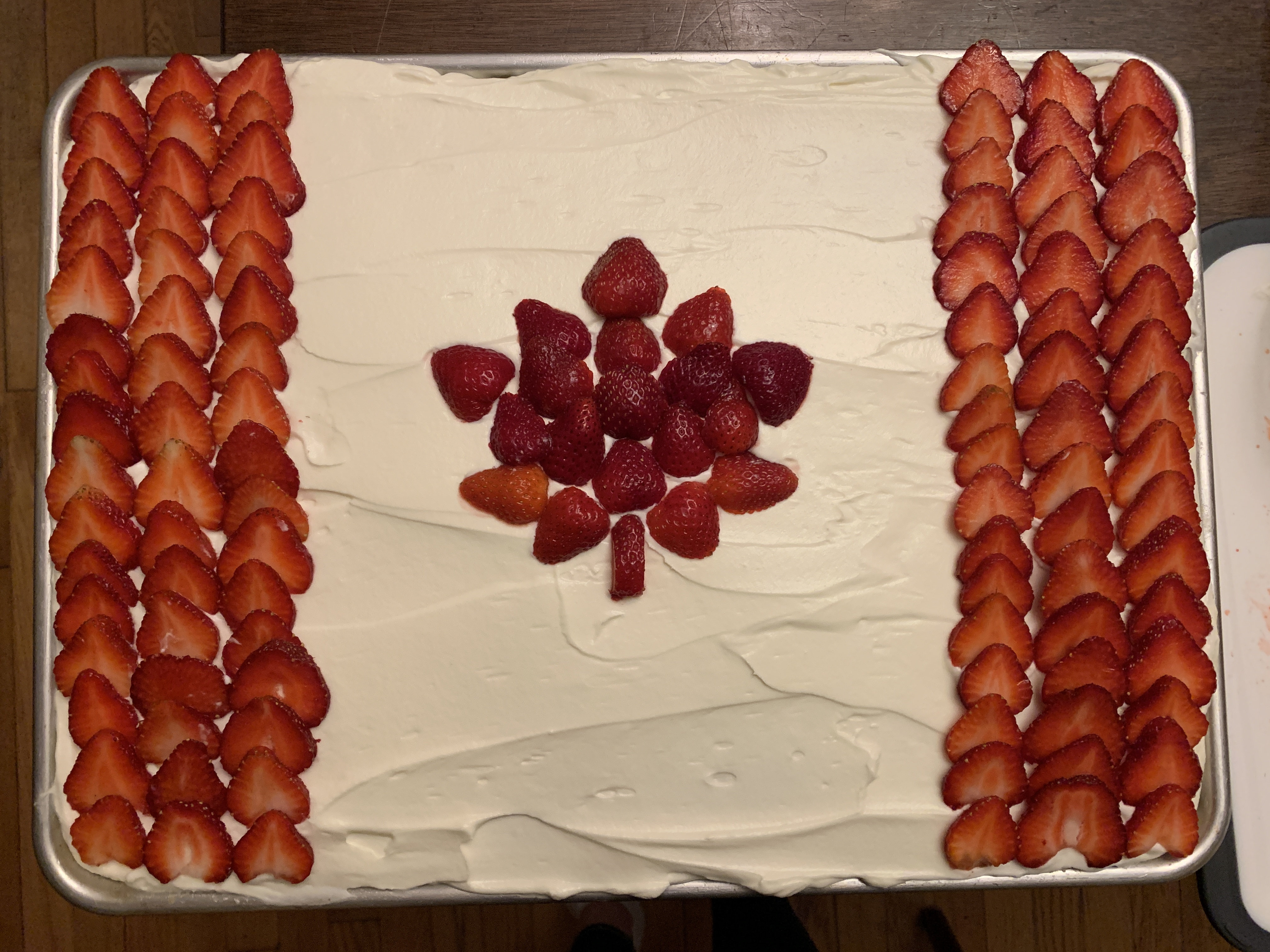 Canadian Flag Cake M Saunders