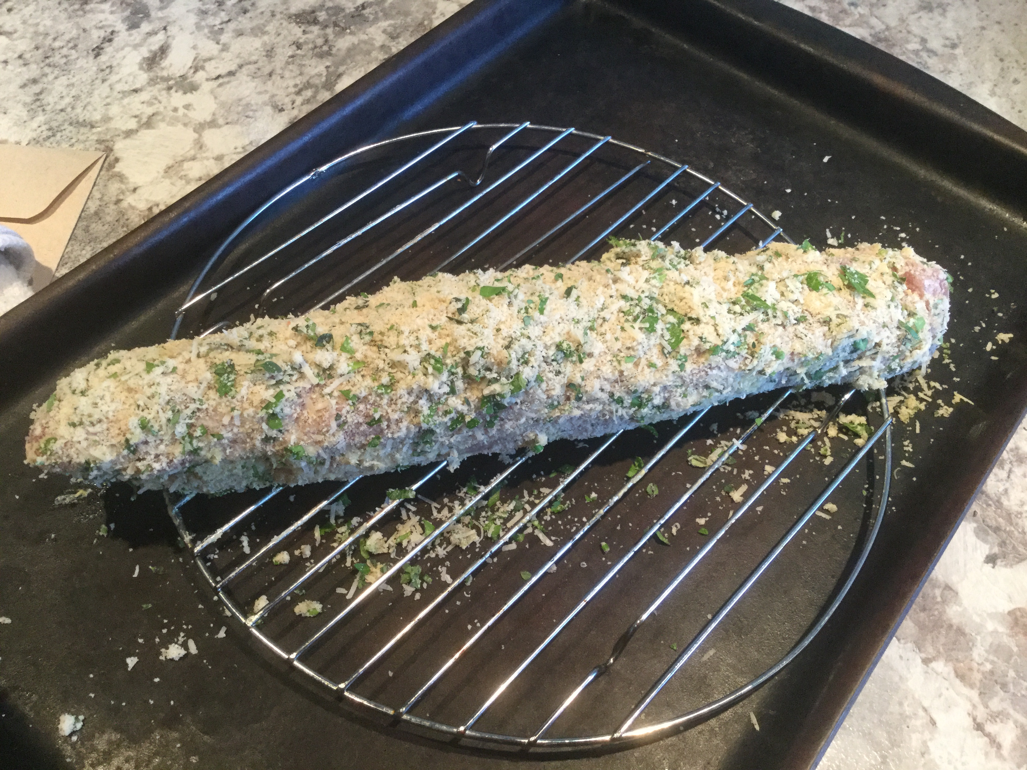 Parsley and Parmesan Crusted Pork Tenderloin Kate Preston