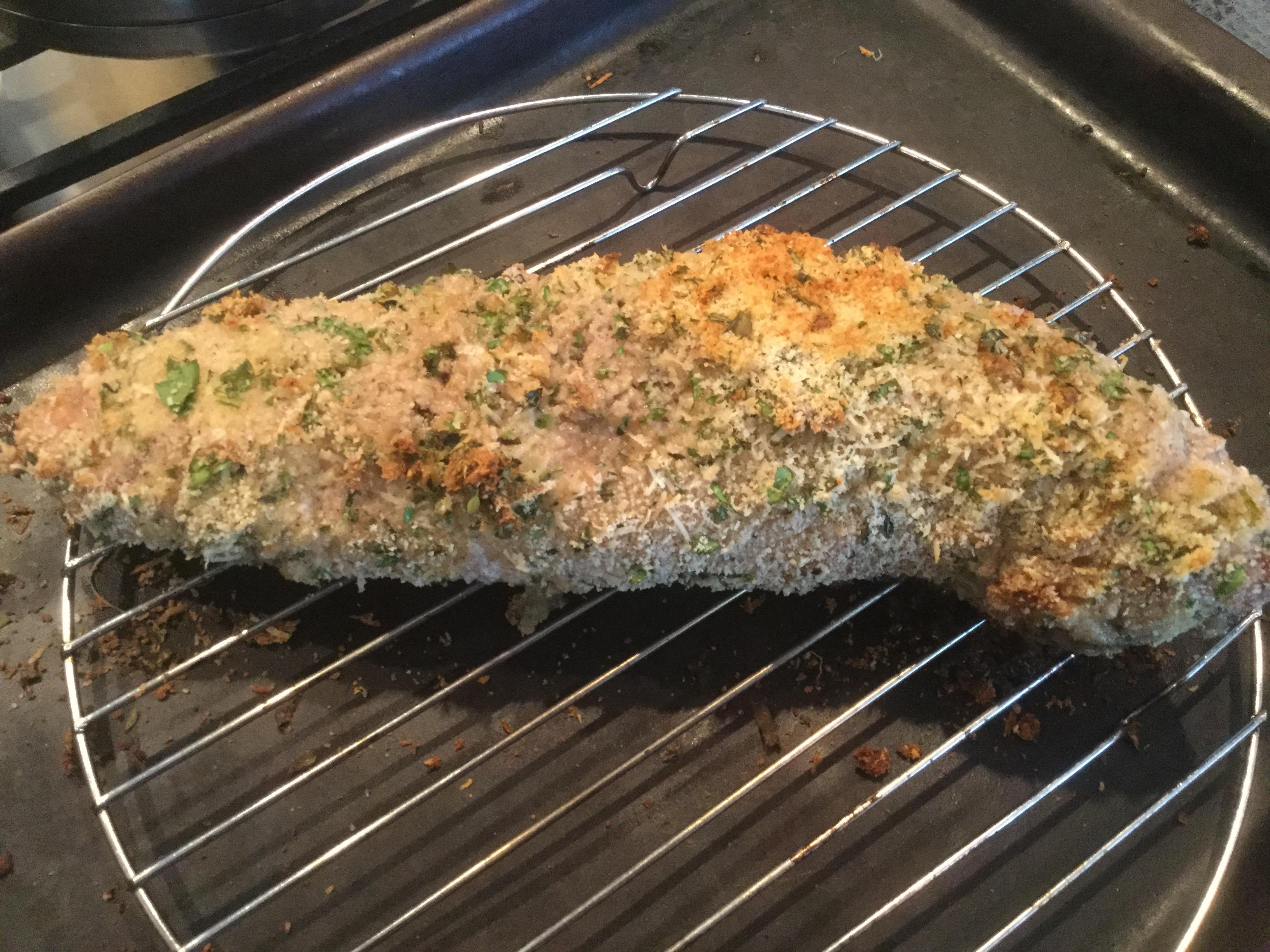 Parsley and Parmesan Crusted Pork Tenderloin